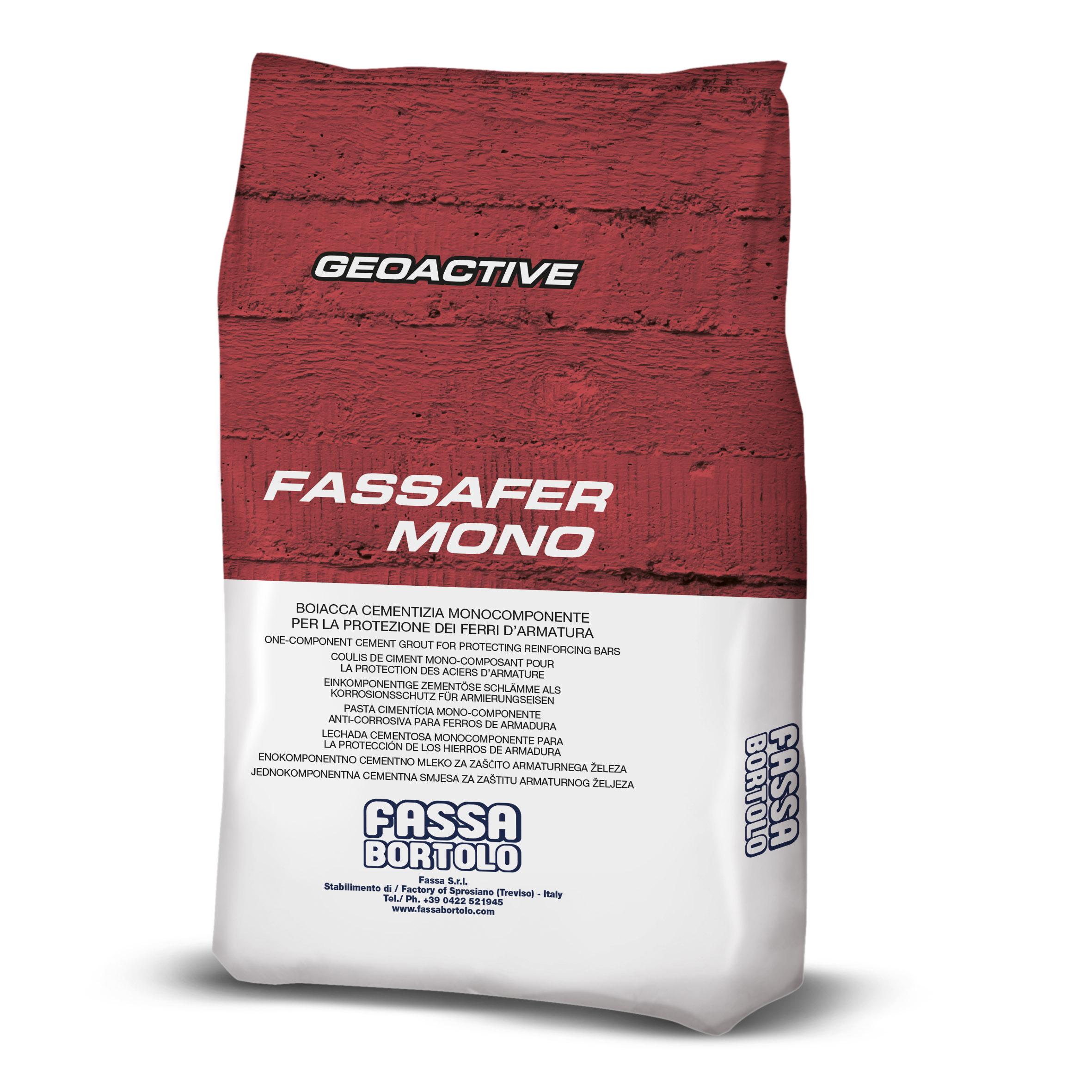 FASSAFER MONO: Tratamiento cementoso monocomponente para la protección activa de los hierros de armadura